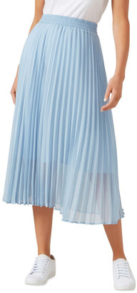 French Connection Pleated Skirt Pale