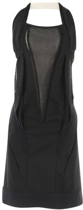 Anthony Vaccarello Black Wool Dresses