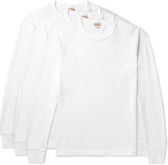 Visvim Three-pack Cotton-jersey Thermal T-shirts - White
