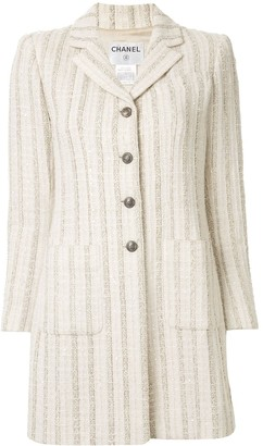 Chanel Pre Owned striped tweed jacket