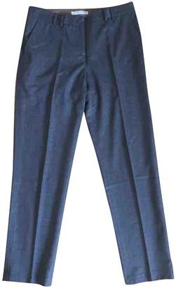Fabiana Filippi Grey Wool Trousers for Women