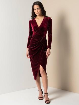 Ever New Evaliah Velvet Wrap Midi Dress