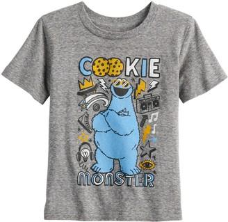 Toddler Boy Jumping Beans Sesame Street Cookie Monster Heathered Tee