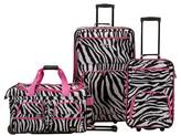 Rockland Spectra 3pc Luggage Set - Pink Zebra