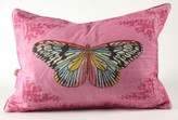 The Well Appointed House Butterfly on Pink Linen Pillow