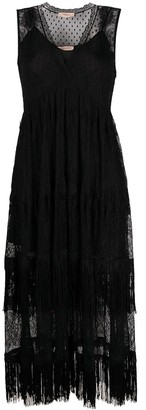 Twin-Set Lace-Panelled Mid-Length Dress