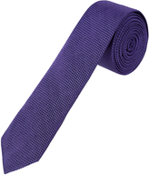 Oxford Tie Silk Textured Skny Purple X