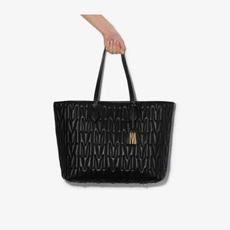 Moschino black quilted Monogram leather tote bag