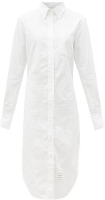 Thom Browne Logo-patch Cotton-poplin Shirt Dress - White
