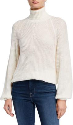 MICHAEL Michael Kors Turtleneck Balloon-Sleeve Sweater