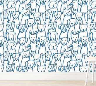 Pottery Barn Kids Chasing Paper Wallpaper Puppy Pile