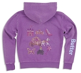 Butter Shoes Girls' Sparkle-Embellished Princess Hoodie - Little Kid