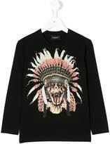 Marcelo Burlon County Of Milan Kids feather headdress print top