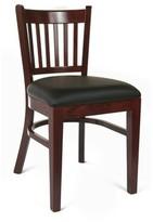 Slatback Solid Wood Side Chair in Dark Mahogany Benkel Seating