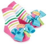 Mud Pie Lollipop Socks in Pink/Blue