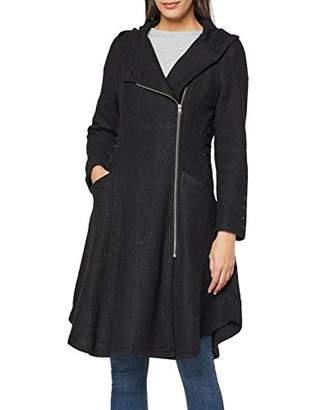 Joe Browns Womens Longline Zip Up Jacket with Pockets Black