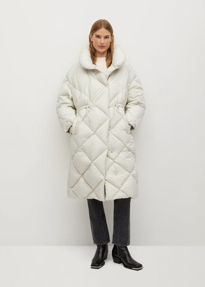 MANGO Quilted oversized down anorak