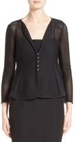 Armani Collezioni Women's Ottoman Jersey Peplum Jacket