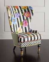 Mackenzie Childs MacKenzie-Childs Cutting Garden High-Back Wing Chair