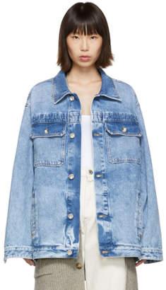 Maison Margiela Blue Oversized Denim Jacket
