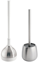 InterDesign Forma Stainless Steel Bowl Brush and Plunger Set (2 PC)