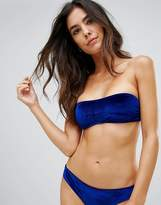 Playful Promises Bandeau Velvet Bikini Top