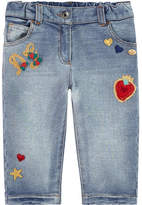 Dolce & Gabbana Girl regular fit jeans with fancy patches