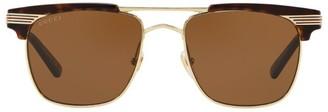 Gucci Tortoiseshell Print Detail Sunglasses