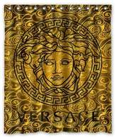 LOVELIFE Versace Custom Bath Shower Curtain With 12 Holes Polyester & Waterproof Curtain Shower Curtain 60 x 72 by Love&life