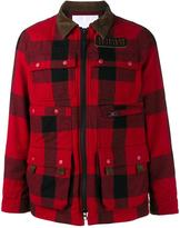 White Mountaineering patch pocket flannel jacket