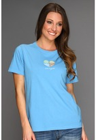 Life is Good Four Season Heart Crusher Tee (Spring Blue) - Apparel
