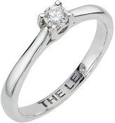 Leo Diamond platinum 0.15ct I-ISI2 solitaire ring