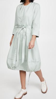 Tibi Vneck Dress with Bib Detail and Removable Belt