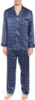 Majestic International Sapphire Silk Pajama Set