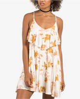 Volcom Juniors' Floral-Print Tiered Dress