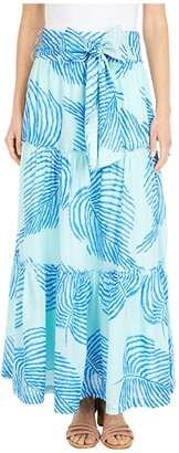 Vineyard Vines Palm Frond Maxi Skirt (Crystal Blue) Women's Skirt