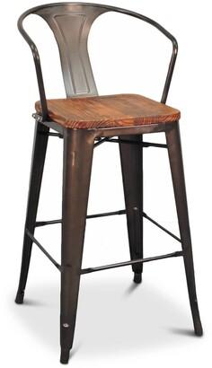 Apt2B Grand Metal Bar Chair GUNMETAL - SET OF 4