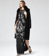 Reiss Thoby SHEARLING AND WOOL COAT