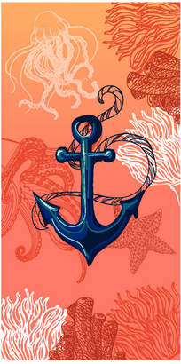 Dohler Set Of 2 Anchor And Coral Beach Towels