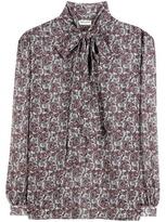 Saint Laurent Silk Pussy-bow Blouse