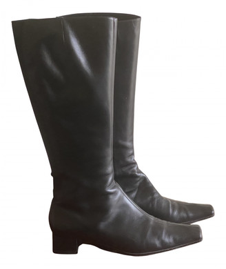 Italia Independent Black Leather Boots