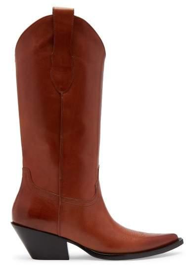 Maison Margiela Western Leather Boots - Womens - Tan