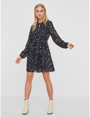 Vero Moda Polka Dot Print Midi Skater Dress