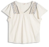 Esprit OUTLET embroidery t-shirt w wing sleeve