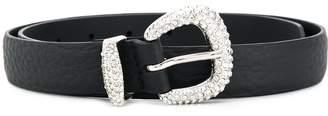 Orciani crystal buckle belt