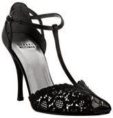 black chantilly lace 'Quality' t-strap pumps