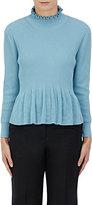"""Dries Van Noten Women's """"Narrow"""" Cotton Peplum Sweater-Light Blue"""