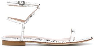 Stuart Weitzman Metallic Open Toe Sandals