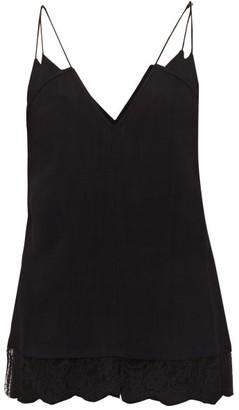 KHAITE Eleanor Lace-trim Cami Top - Black