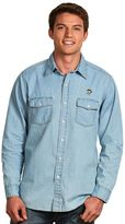 Antigua Men's Pittsburgh Penguins Chambray Button-Down Shirt